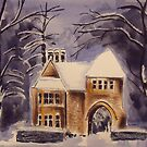 Gatehouse in the snow by Ivor