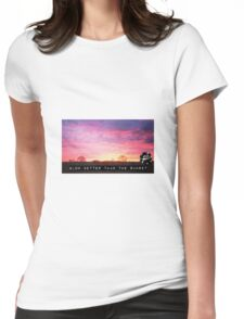 Glowing Sunset Womens Fitted T-Shirt