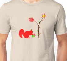 A Squirrel at Christmas Unisex T-Shirt