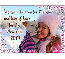 Snowy Christmas Wishes Photographic Print