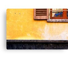 Yellow wall :: Window Canvas Print