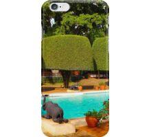 Swimming pool at Nairobi Safari Park Resort iPhone Case/Skin