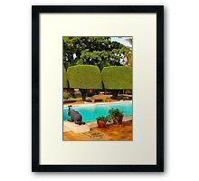Swimming pool at Nairobi Safari Park Resort Framed Print