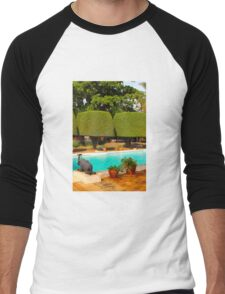 Swimming pool at Nairobi Safari Park Resort Men's Baseball ¾ T-Shirt