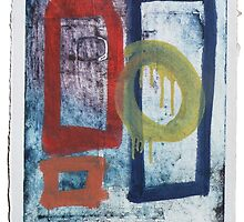 Untitled Reworked Collagraph (2). by Timothy Beighton