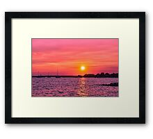Setting On Summer Framed Print