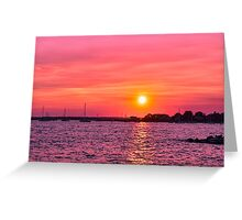Setting On Summer Greeting Card