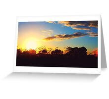 Sunset of summer 2015 Greeting Card