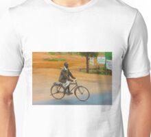 Man on a bicycle in Makindu, KENYA Unisex T-Shirt