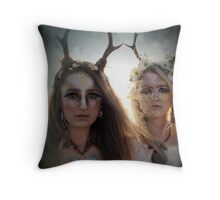 Yaz and Immi Throw Pillow