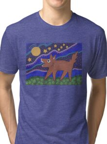 Howling Coyote Tri-blend T-Shirt