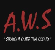 AWS - Straight Outta Tha Cloud Developer t-shirt by chriscrossley