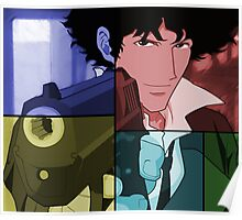 cowboy bebop spike spiegel anime manga shirt Poster