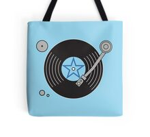 Groovy Blue Record Player Tote Bag