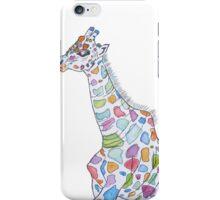 Multi-coloured Giraffe iPhone Case/Skin