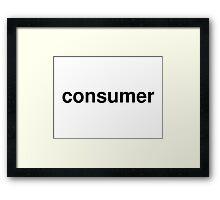 consumer Framed Print