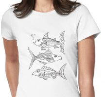 Fishies Womens Fitted T-Shirt