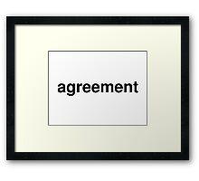 agreement Framed Print