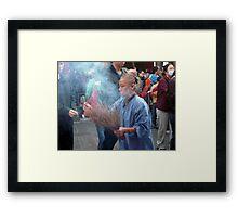 Joss Stick Woman Framed Print