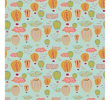 Hot Air Balloons Blue Photographic Print