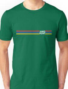 James Hunt Helmet Stripes design Unisex T-Shirt