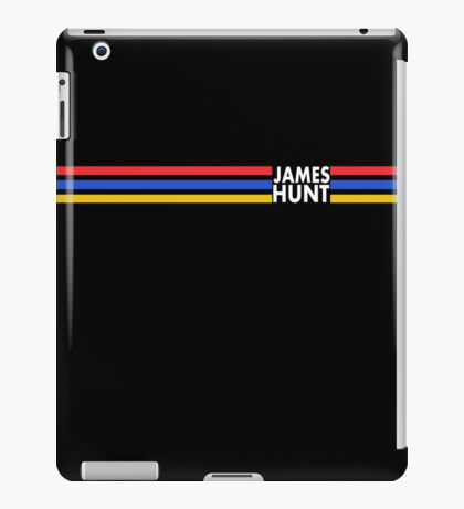 James Hunt Helmet Stripes design iPad Case/Skin