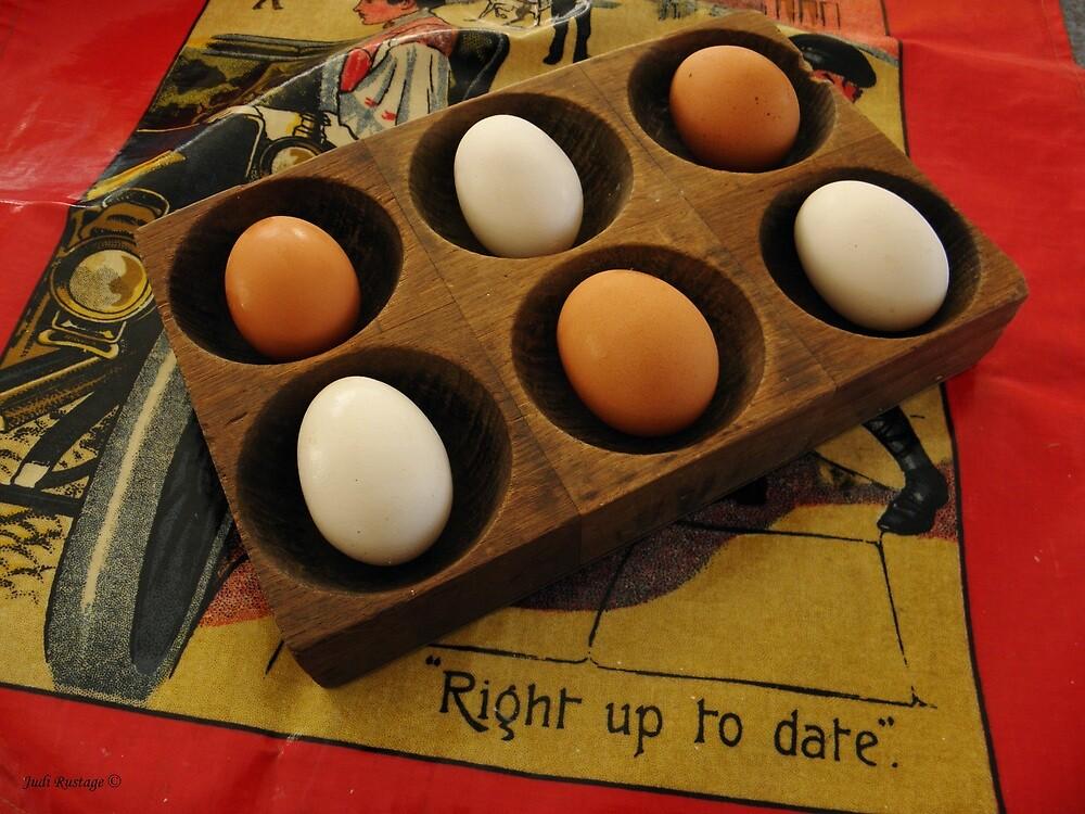 Eggs Taking it Easy by Judi Rustage