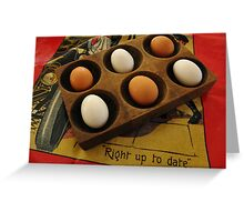 Eggs Taking it Easy Greeting Card