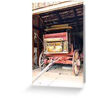 Red Wagon Greeting Card