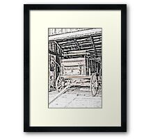 Vintage Wagon Of The Past Framed Print