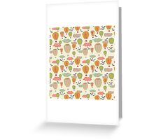 Hot Air Balloons Off white Greeting Card