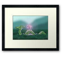 Nessie and Uni Framed Print