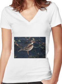 The Baby Wader Women's Fitted V-Neck T-Shirt