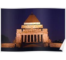 Shrine of Remembrance, Melbourne, Australia Poster