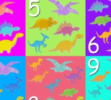 Counting with Cute Cartoon Dinosaurs 1 to 10 Sticker