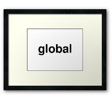 global Framed Print