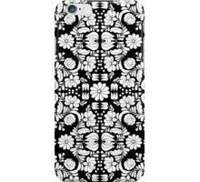 Modern Black and White Floral Damask Filigree Pattern iPhone Case/Skin