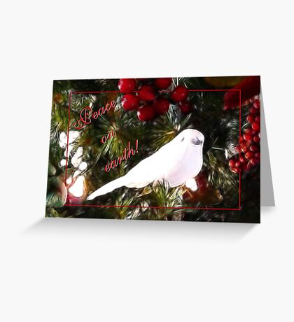 Peace on earth - card Greeting Card