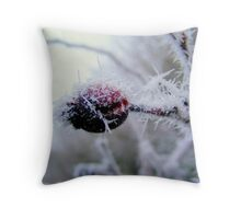 Iced berry. Throw Pillow