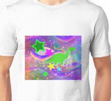 Cute Cartoon Dinosaur Color Swirls Galaxy Unisex T-Shirt
