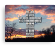 God Loved - inspirational Canvas Print