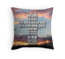 God Loved - inspirational Throw Pillow