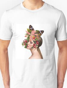 Girl in flowers 2 Unisex T-Shirt
