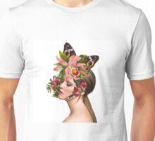 Girl in flowers 2 Unisex T-Shirt