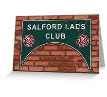 The Smiths Salford Lads Club Greeting Card