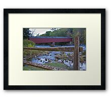 Cornwall Covered Bridge Framed Print