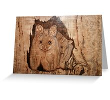 Possum Mum & Bub Greeting Card
