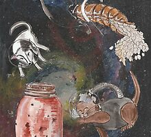 Space Animals Collection #3 by Printsnjunk
