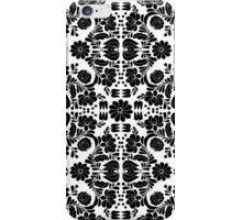 Modern White and Black Floral Damask Filigree Pattern iPhone Case/Skin