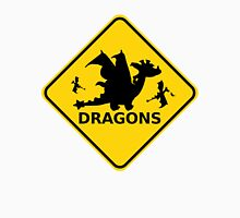 Funny Beware of Dragons Traffic Sign Unisex T-Shirt